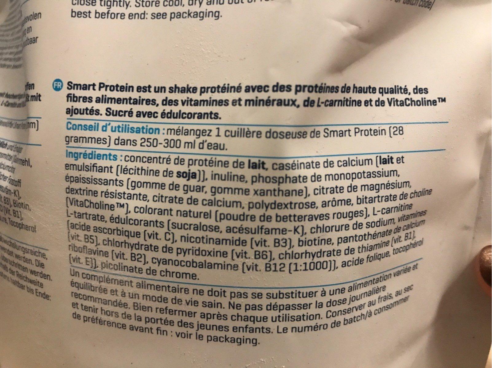 Smart protein - Ingrédients - fr