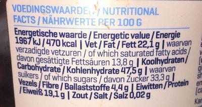 Whey Protein Balls, Dark Chocolate - Ingrédients