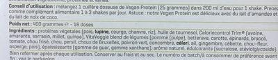 Vegan protein shake - Ingrédients