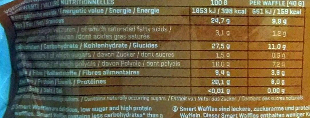 Smart Waffles, Original - Nutrition facts - en