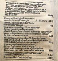 Chips Di Verdure Bio Go Pure - Nutrition facts - fr
