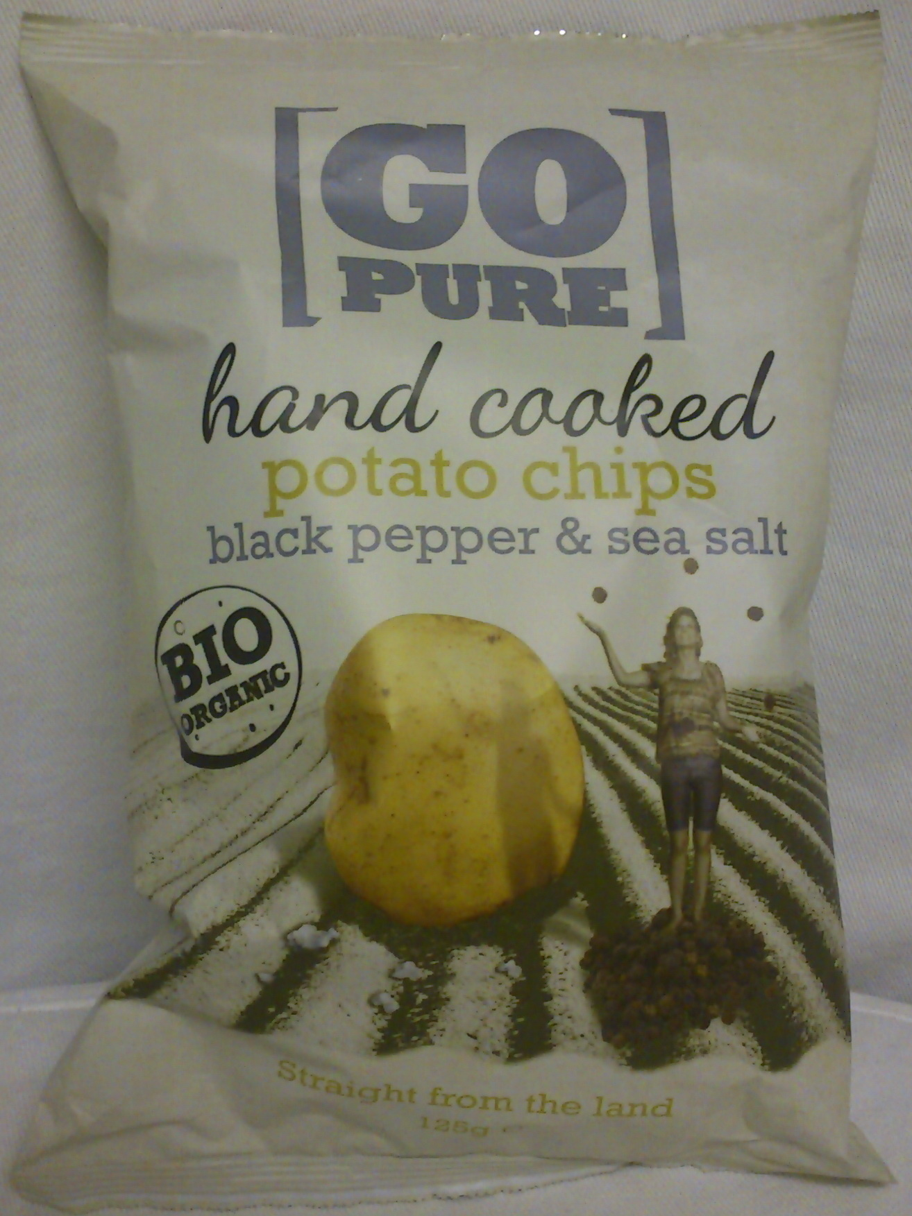 Hand Cooked Potato Chips Black pepper & Sea salt - Product