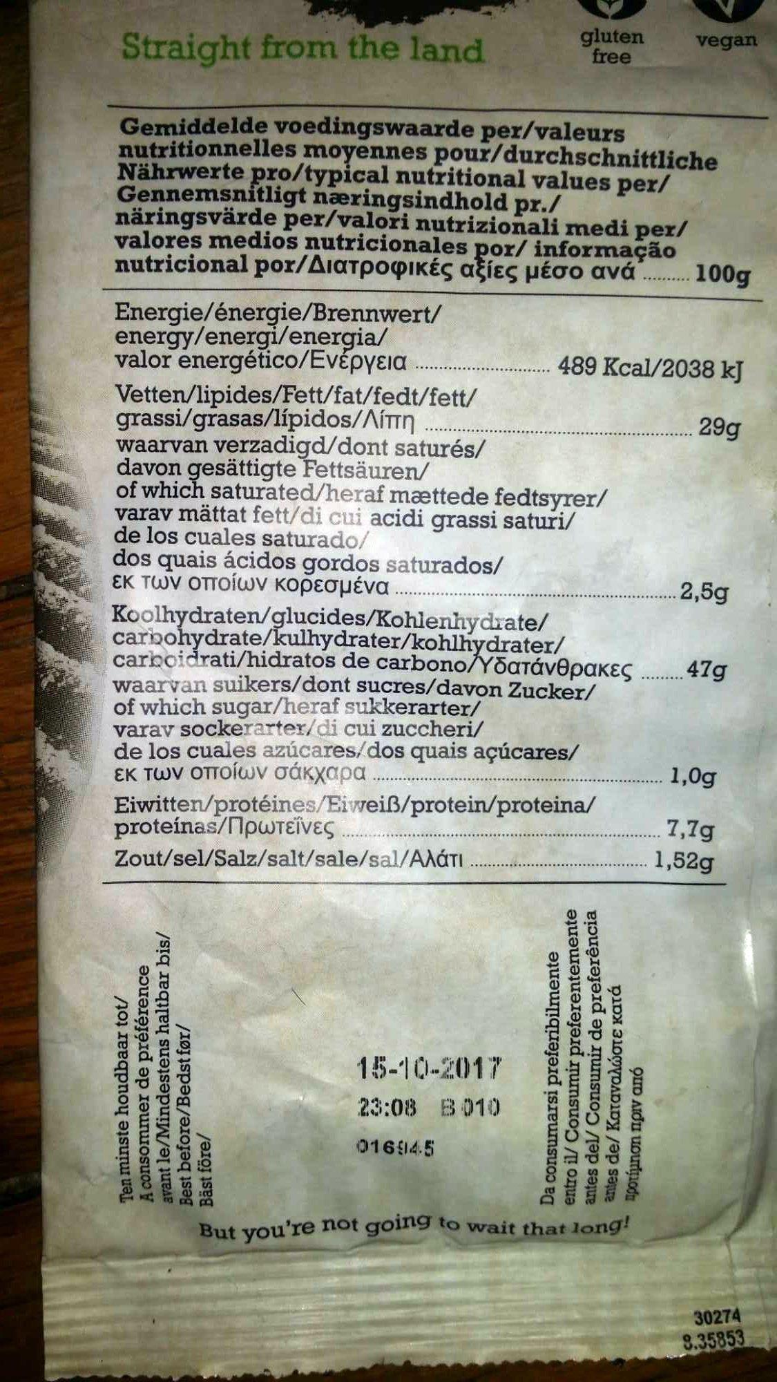 Chips de pomme de terre au fenouil - Informations nutritionnelles - fr