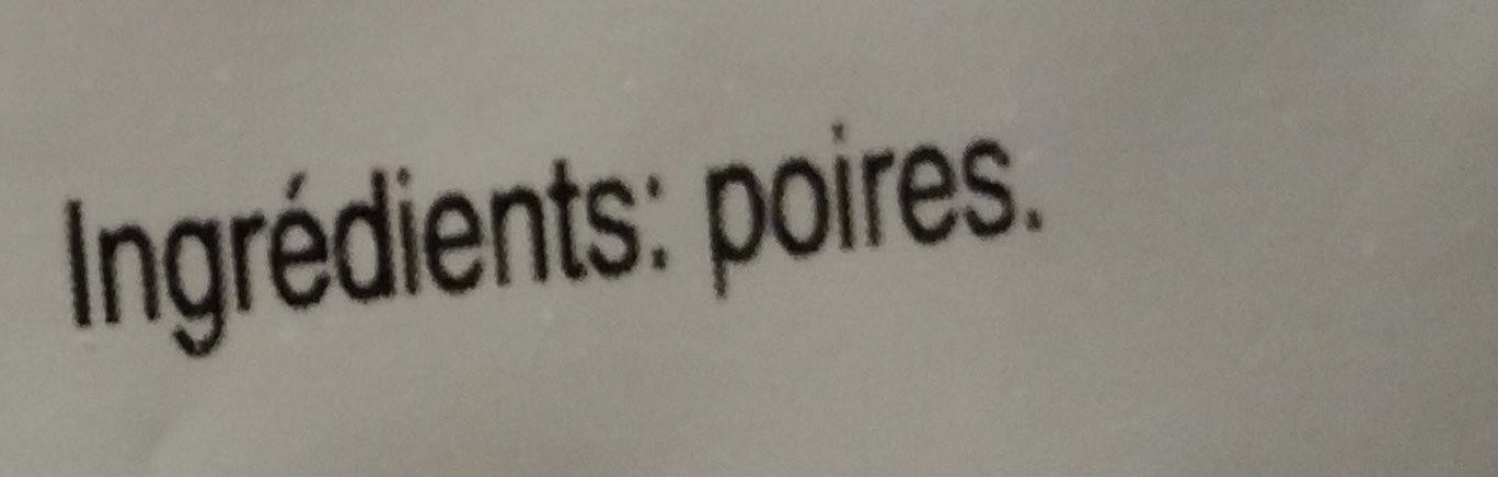Poires - Ingrédients