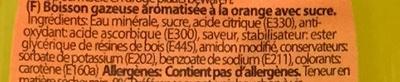 Limofant Orange - Ingredients - fr