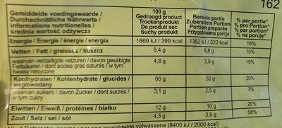 Culiquick - Nutrition facts - fr