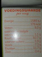 quinoa mux - Nutrition facts - nl