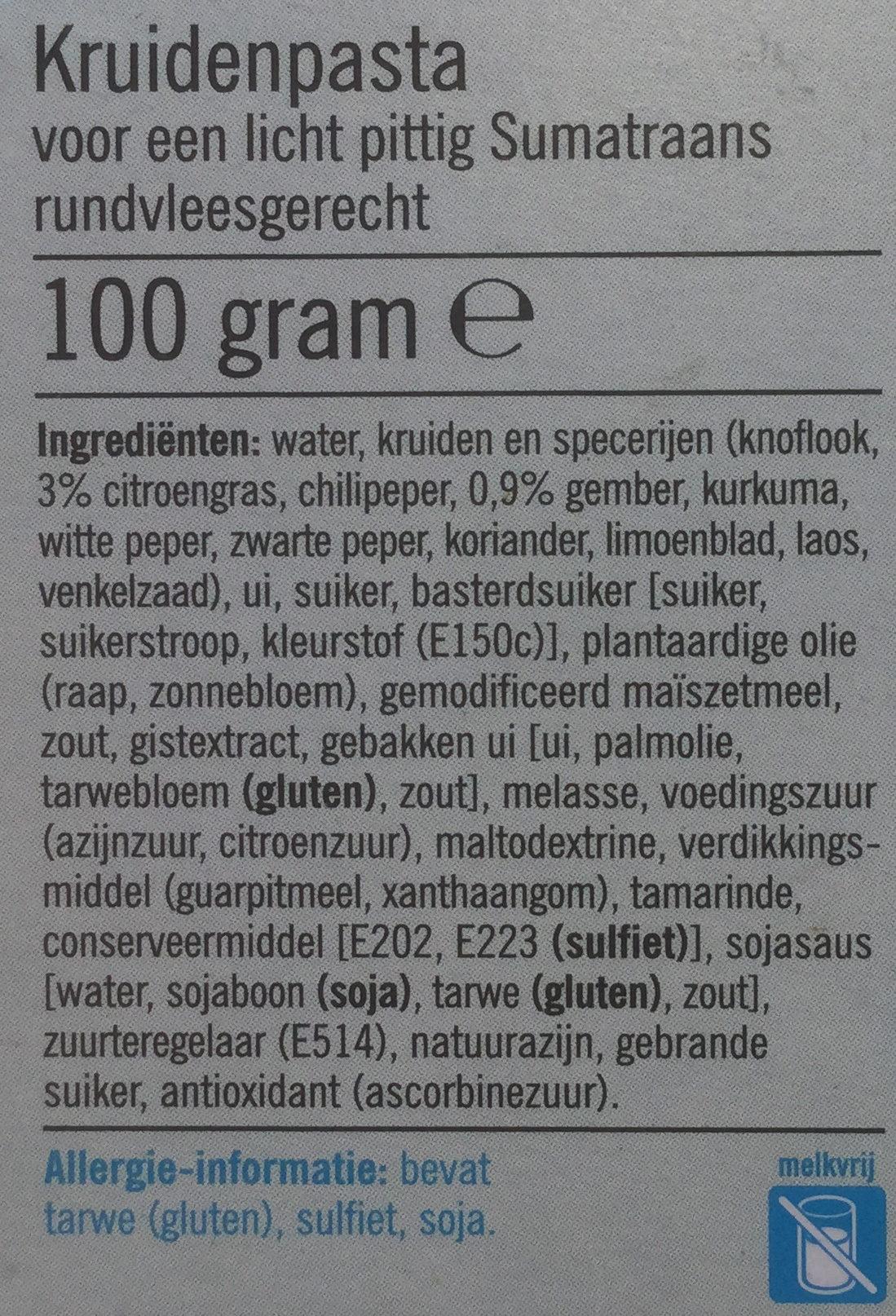 Rendang vlees - Ingrediënten