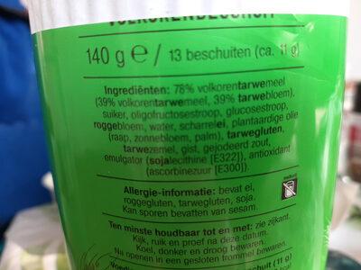 Albert Heijn Knapperig Volkoren Beschuit - Ingredients - nl