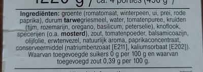 Italiaanse lasagne verspakket - Ingredients - nl