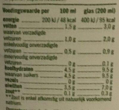 Biologische Halfvolle melk - Voedingswaarden - fr