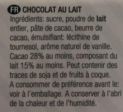 X-Mas Mini Chocolates - Ingrédients - fr