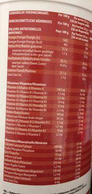 Diet Shake saveur fraise - Wartości odżywcze - fr