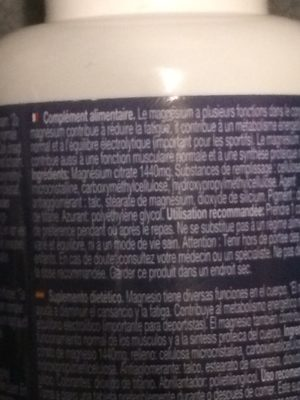 Magnesium citrate 200 mg - Ingrédients - fr