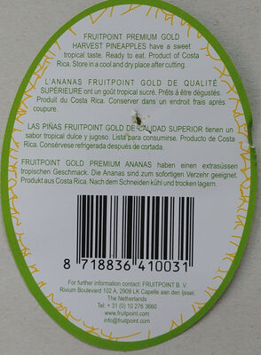Gold Extra Sweet Pineapples - Ingredients - fr