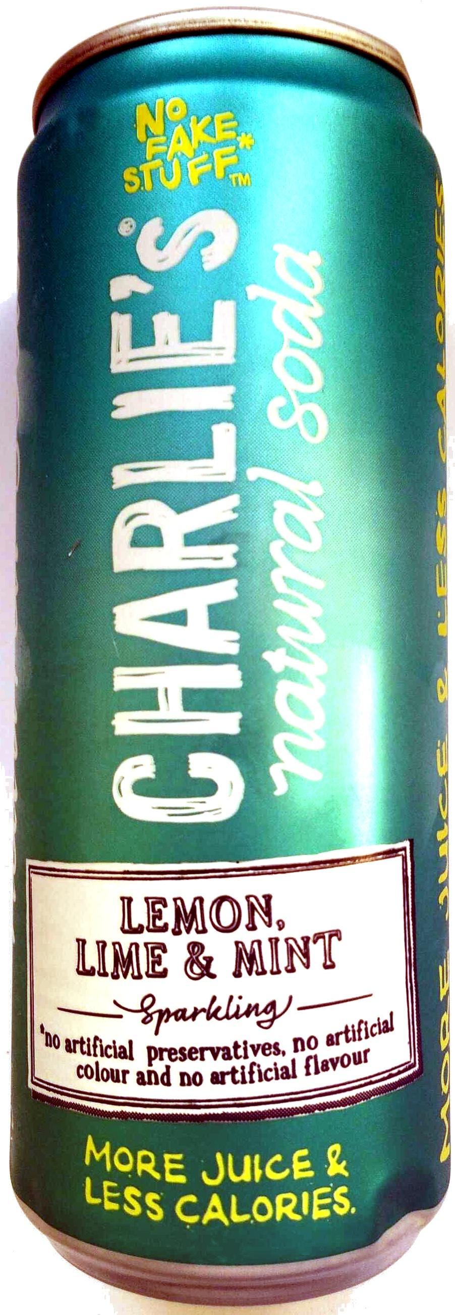 Charlie's Lemon, Lime & Mint Natural Soda - Produit - fr