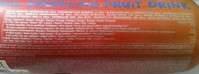 Charlie's orange & mandarin - Nutrition facts - fr