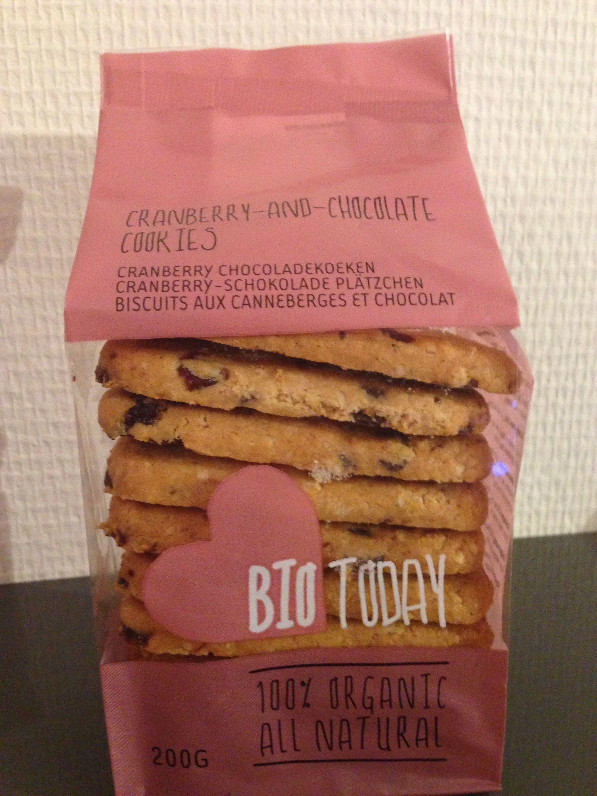 Cranberry-and-chocolate-cookies - Product - fr