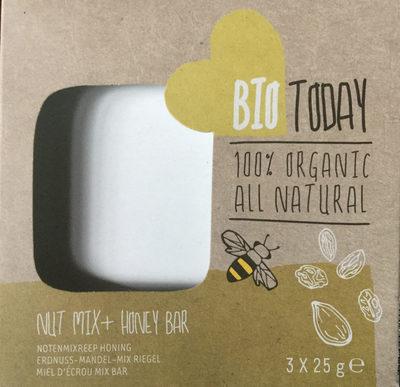 Bio Today Nut Mix + Honey Bar (notenmixreep Honing) - Produit - fr