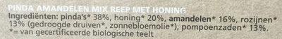 Bio Today Nut Mix + Honey Bar (notenmixreep Honing) - Ingrediënten - nl