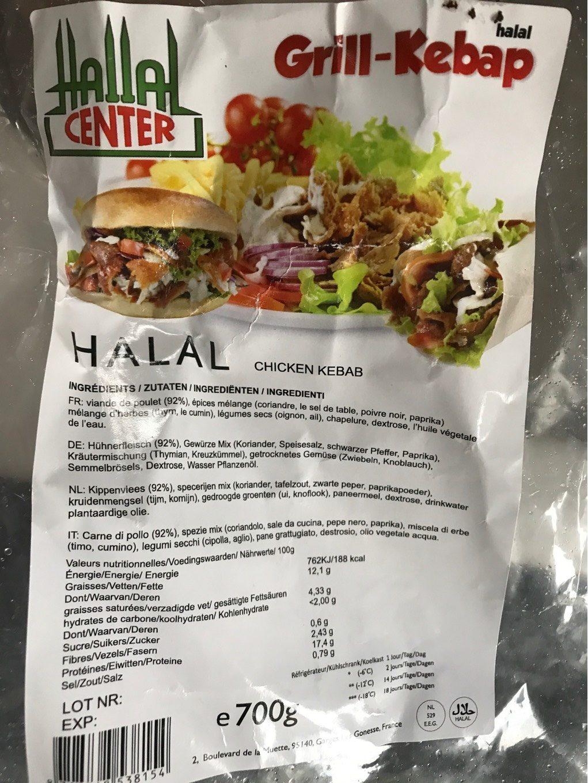 Chicken kebab - Produit