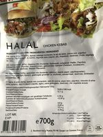 Chicken kebab - Ingrédients
