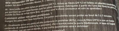 Protein pasta - Ingrédients