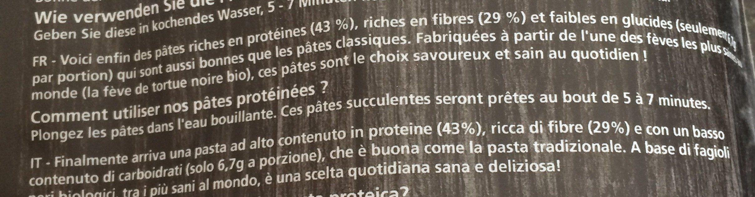 Protein pasta - Ingrédients - fr