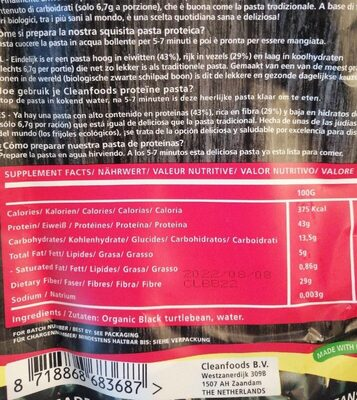 Protein pasta - Informations nutritionnelles - fr