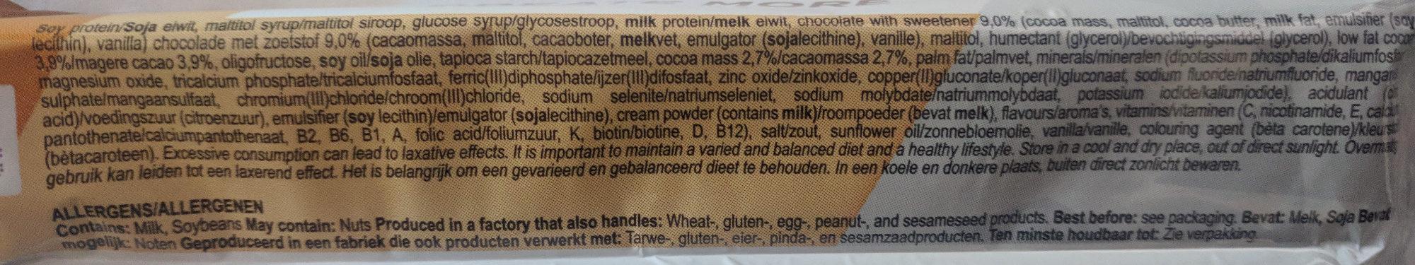 Bar dark choco flavour - Ingredients - en