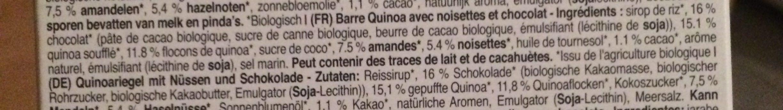 Nuts & Dark Chocolate - Ingredients