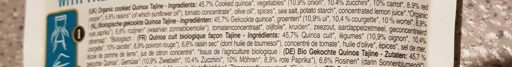 Paul's Finest Organic Quinoa, Tajine - Ingredients