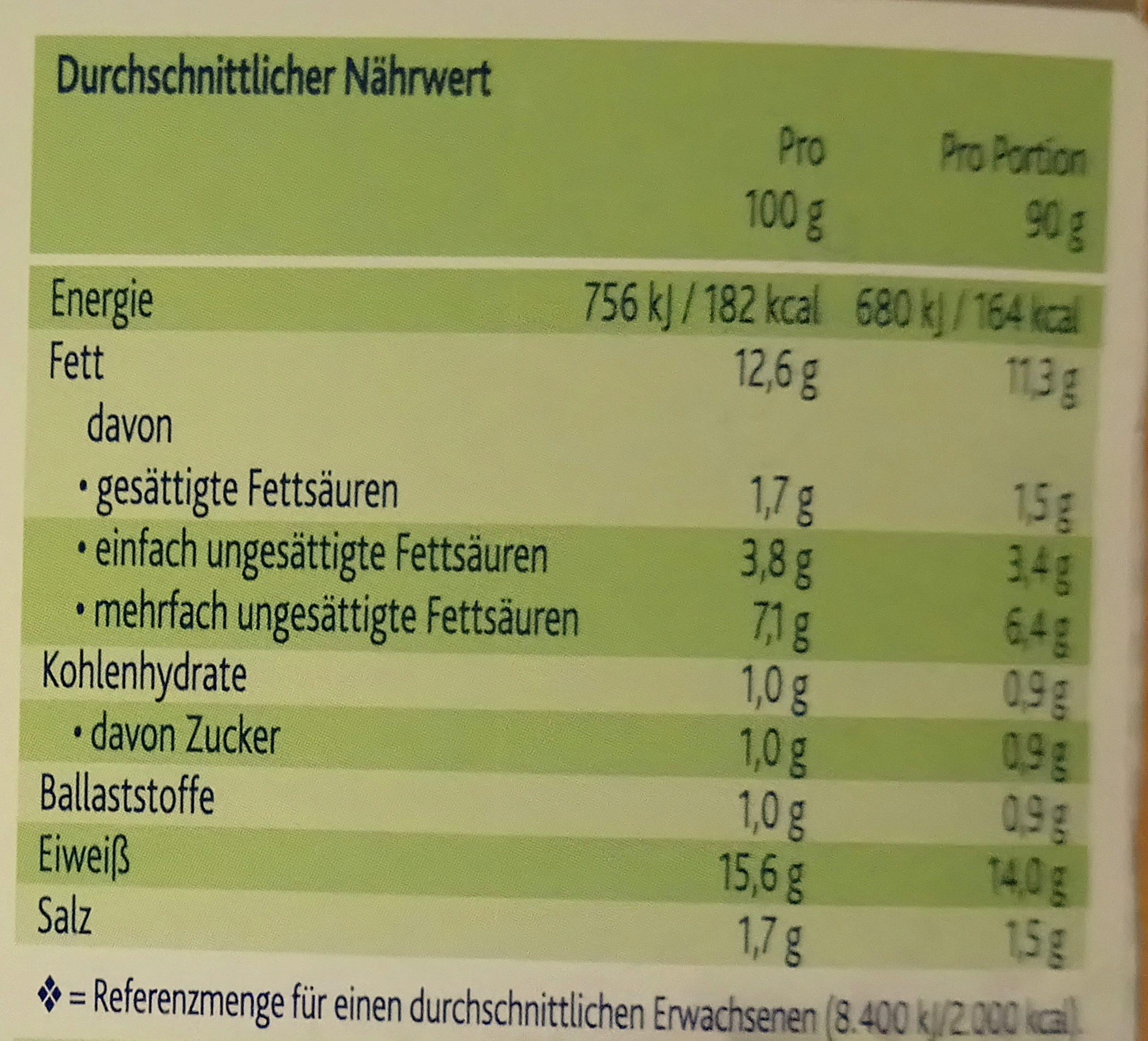 Tofu geschnetzeltes - Informations nutritionnelles - de