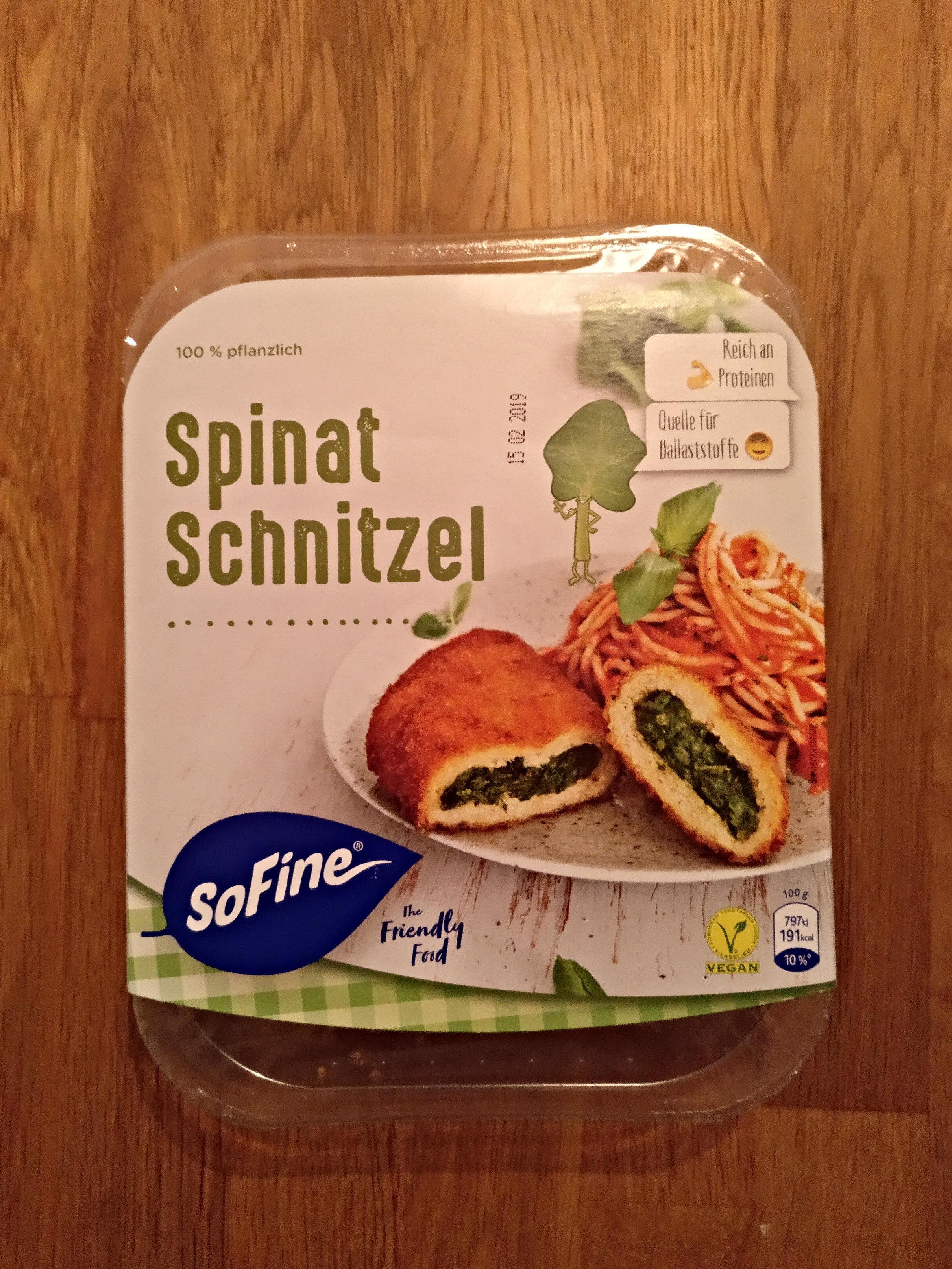 Spinat Schnitzel - Produkt - de