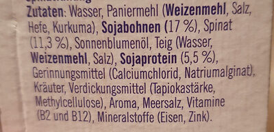 Spinatschnitzel - Zutaten - de