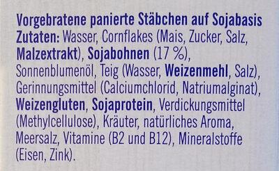 SoChicken Stäbchen - Inhaltsstoffe - de