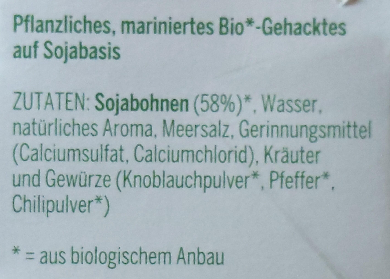 Vegan Bio-Gehacktes - Inhaltsstoffe - de