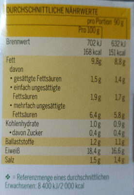 Vegan Bio-Gehacktes - Nährwertangaben