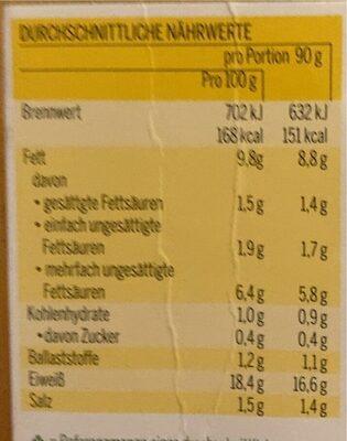 Vegan Bio Gehacktes - Nährwertangaben - de
