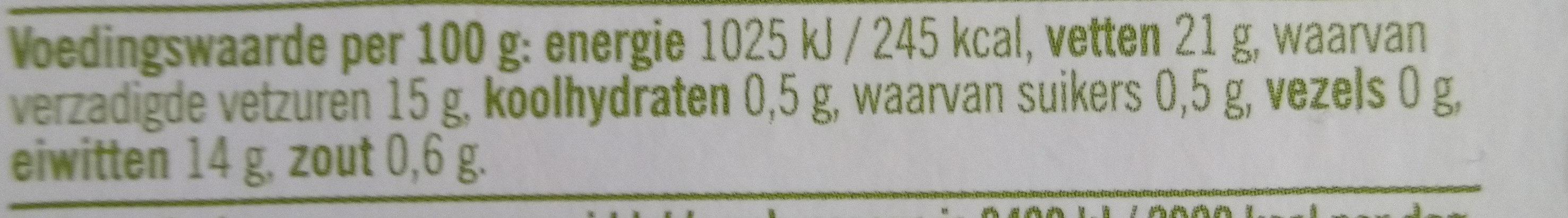Biologische Buffelmozzarella 52+ - Nutrition facts - nl