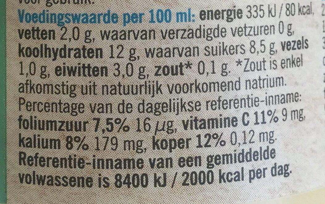 Smoothie van magere yoghurt - Voedingswaarden - nl