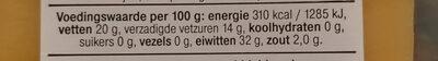 Belegen 30+ - Voedingswaarden - nl
