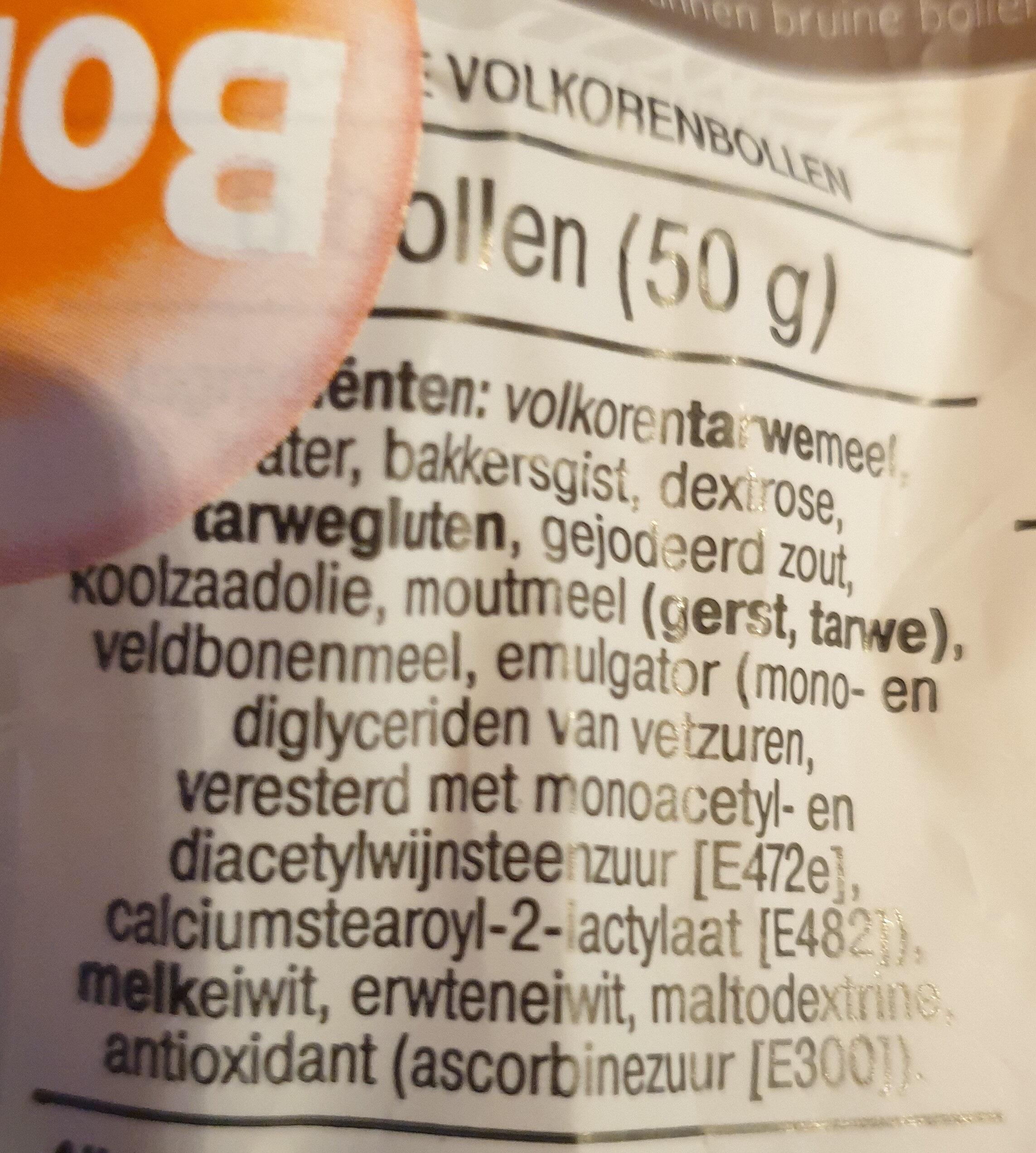 Zacht Volkorenbollen - Ingrédients - nl