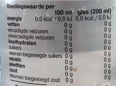 AH bruisend mineraal water citroen smaak - Voedingswaarden - nl