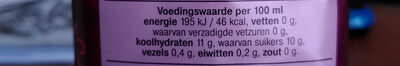 frisse PEER nectar - Nutrition facts - nl