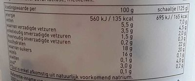 Romige volle yoghurt stracciatella - Voedingswaarden - nl