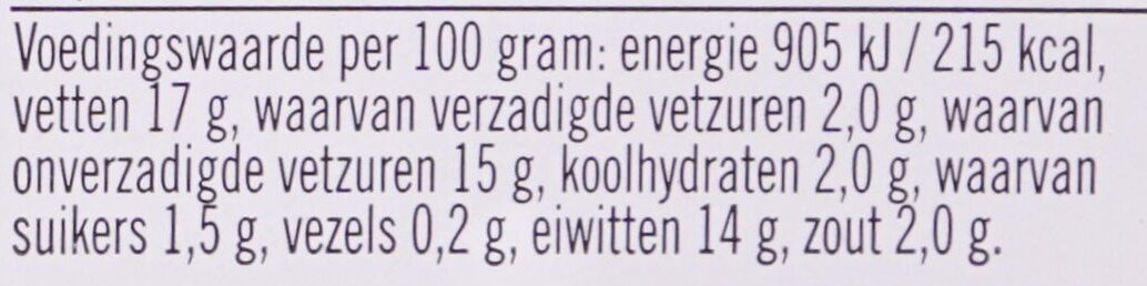 Filet Americain Mager - Nutrition facts - nl