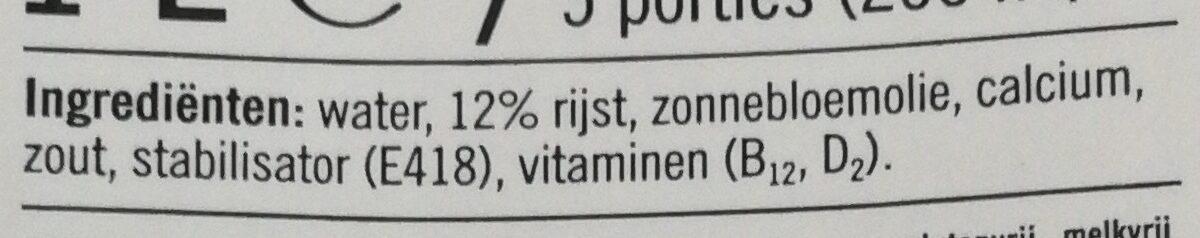 Zachte rijstdrink naturel - Ingrediënten