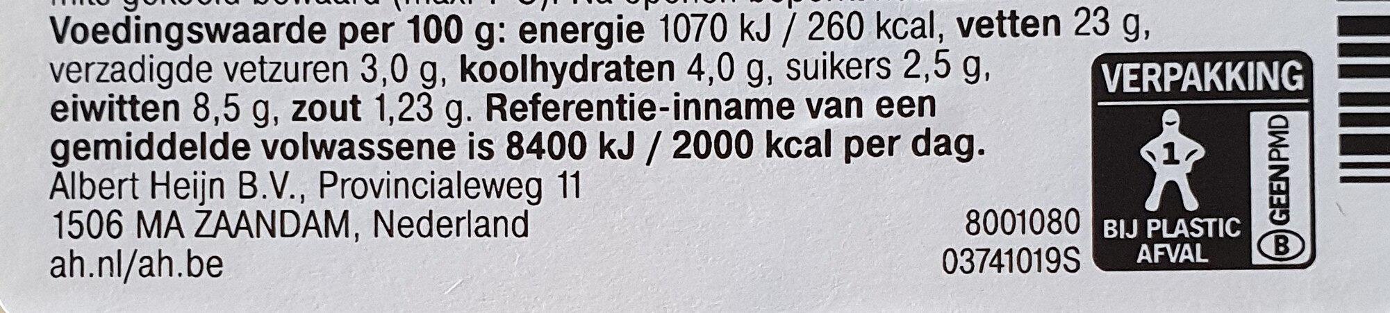 scharrelei salade - Voedingswaarden - nl