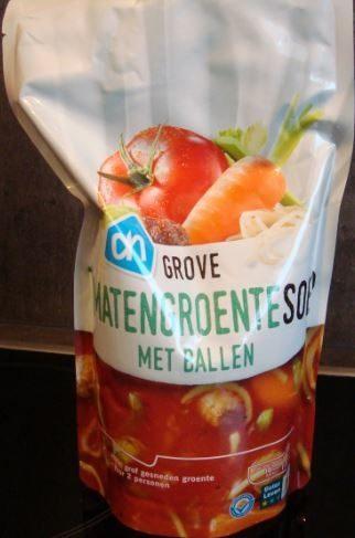 Tomatengroentesoep met ballen - Product - nl